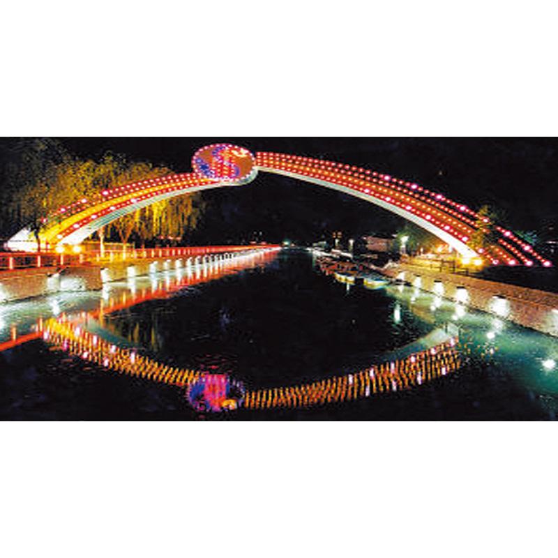 桥梁广场亮化