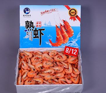 卤水熟南美白虾 Cooked vannamei shrimp