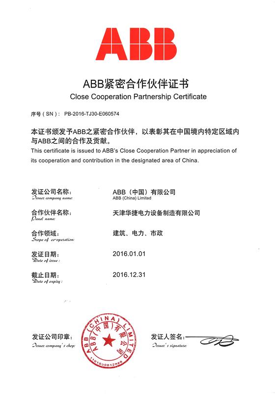 ABB-紧密合作伙伴天
