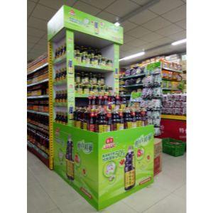 商场促销堆头/木做堆头/铁架堆头/形象堆头/超市堆头柜/产品形象/地堆图片