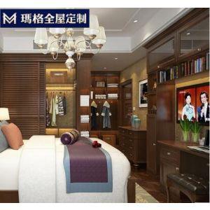 上海玛格定制欧式老年房实木整体衣柜书桌柜电视柜卧室大家具