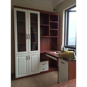 靠窗的书桌书柜的设计图展示图片
