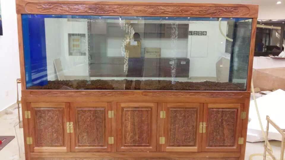 南京实木中式鱼缸定做