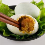 野生鸭蛋制作的荷叶蛋营养价值非常高