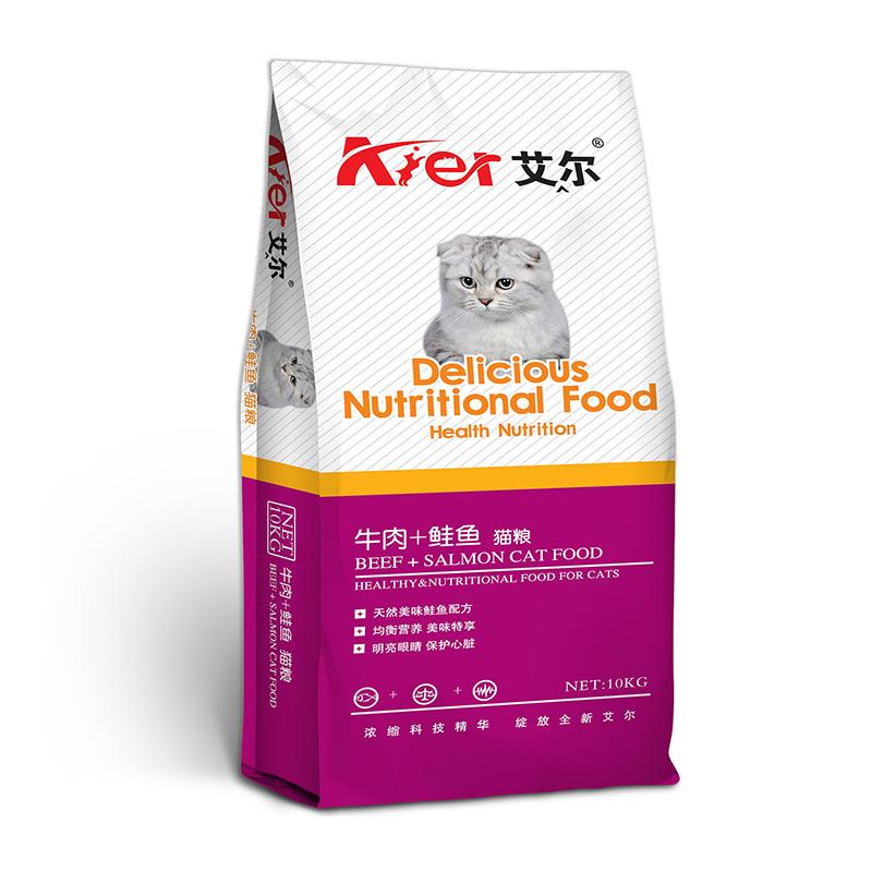 艾尔牛肉鲑鱼猫10kg