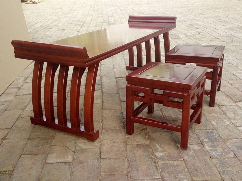 马鞍桌|书法桌椅|河北