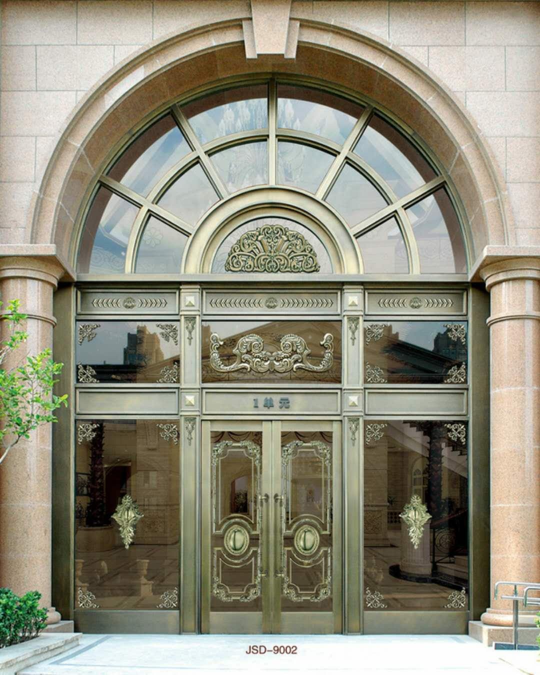 通透式铜门