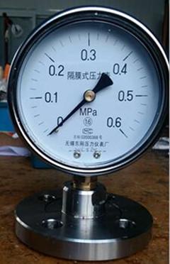 法兰型隔膜式压力表