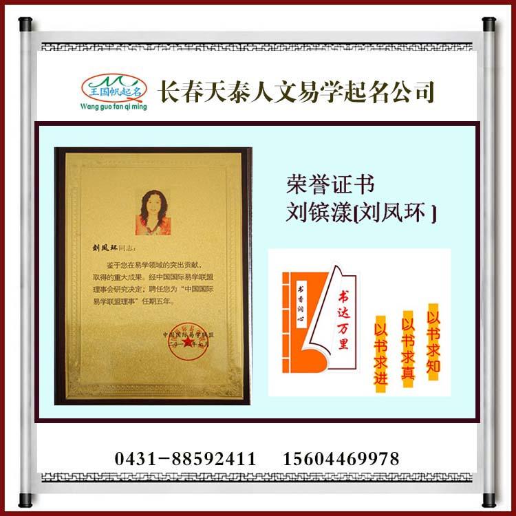 中国国际易学联盟副主席荣誉证书