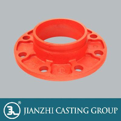 沟槽式管件-法兰短管
