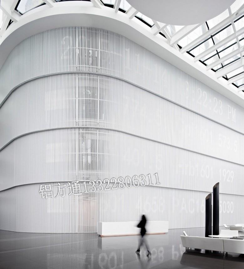 造型铝方通安装弧形铝