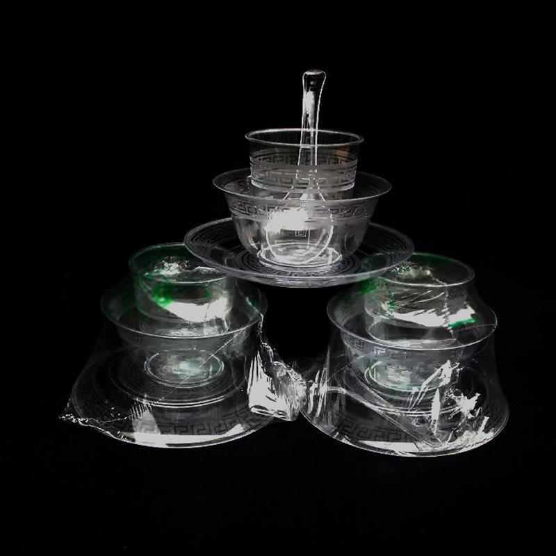 一次性航空水晶餐具