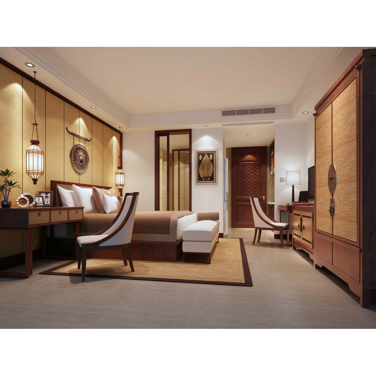 产品展示 酒店家具定制 套间效果图  长沙柏宁家具有限公司是一家集