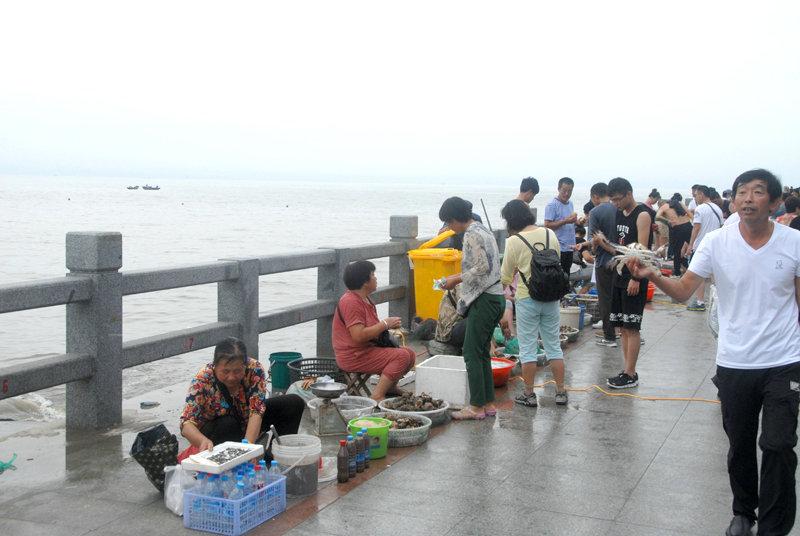 岛上有一个海鲜早市,游客可在岛上购买新鲜的海鲜。