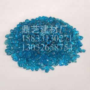 海蓝色玻璃珠3-6|玻璃珠厂家|玻璃珠厂|河北玻璃珠
