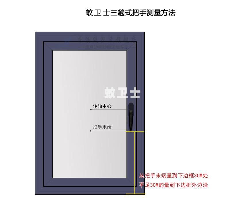 平开纱窗测量方法图