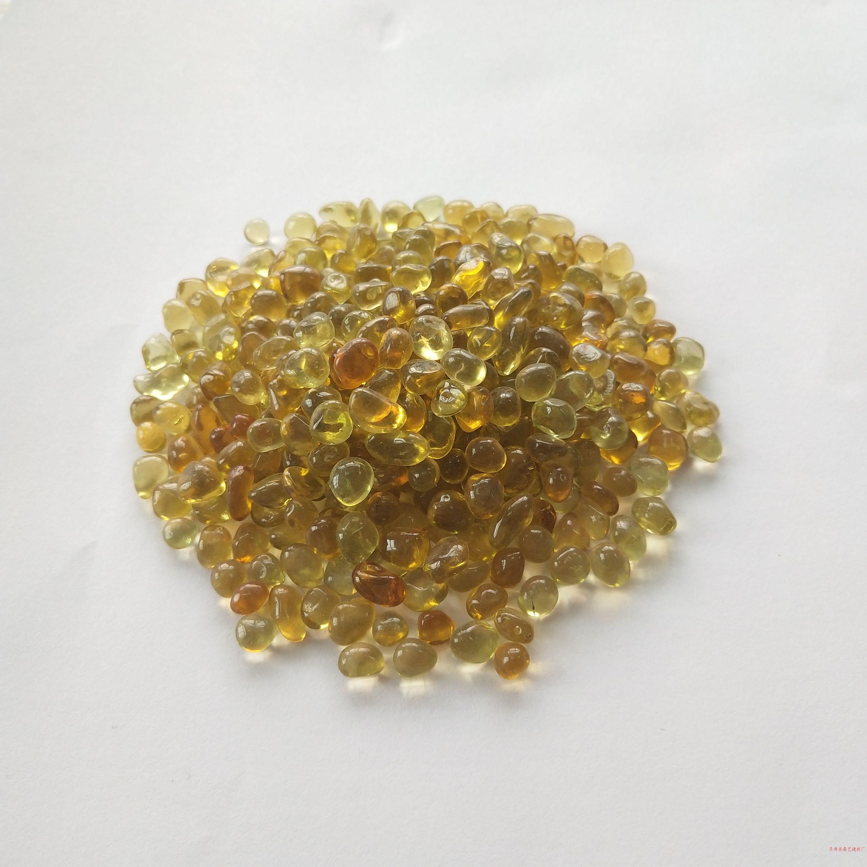 灵寿县鼎艺建材厂|水晶黄玻璃珠3-6|河北玻璃珠|河北玻璃珠