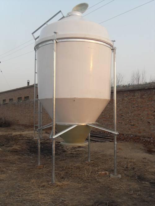 玻璃钢料塔 河北秾福 济宁玻璃钢饲料塔