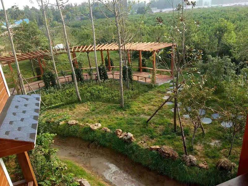 防腐木景观水系