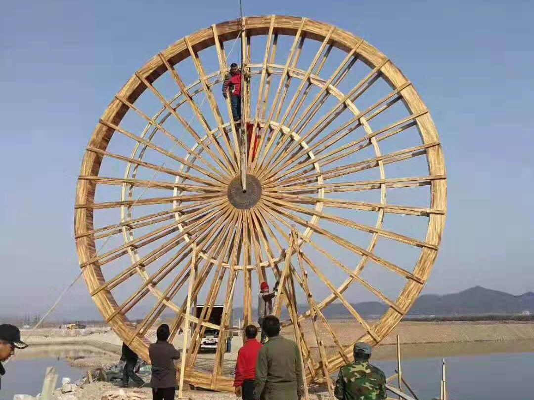 河南郑州防腐木木桥水车,河南豫飞园林景观