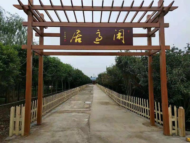 河南郑州防腐木门头