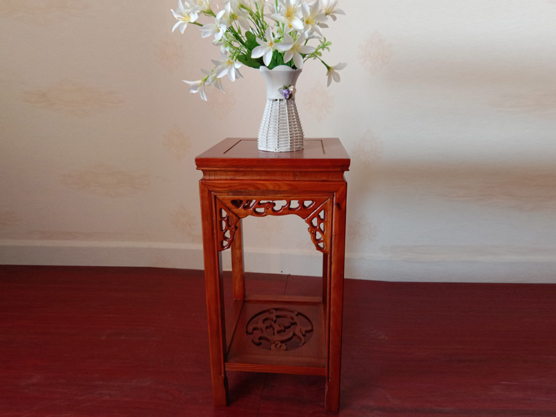 实木中式花架