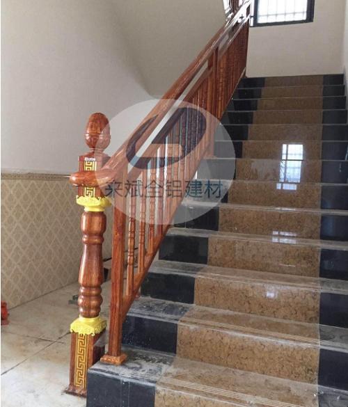 全铝楼梯木纹扶手