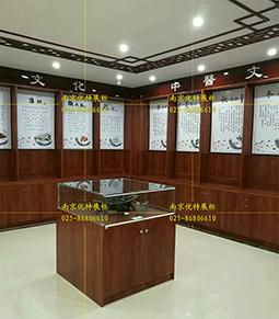 南京实木皮展柜木纹柜制