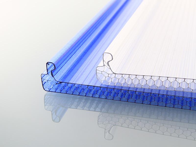 PC锁扣多层阳光板蜂窝结构阳光
