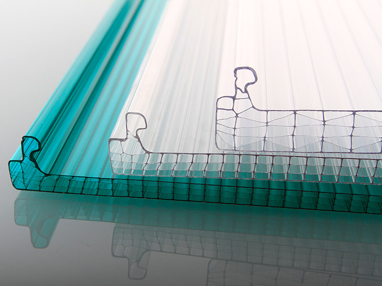 4层矩形PC直列锁边型中空板