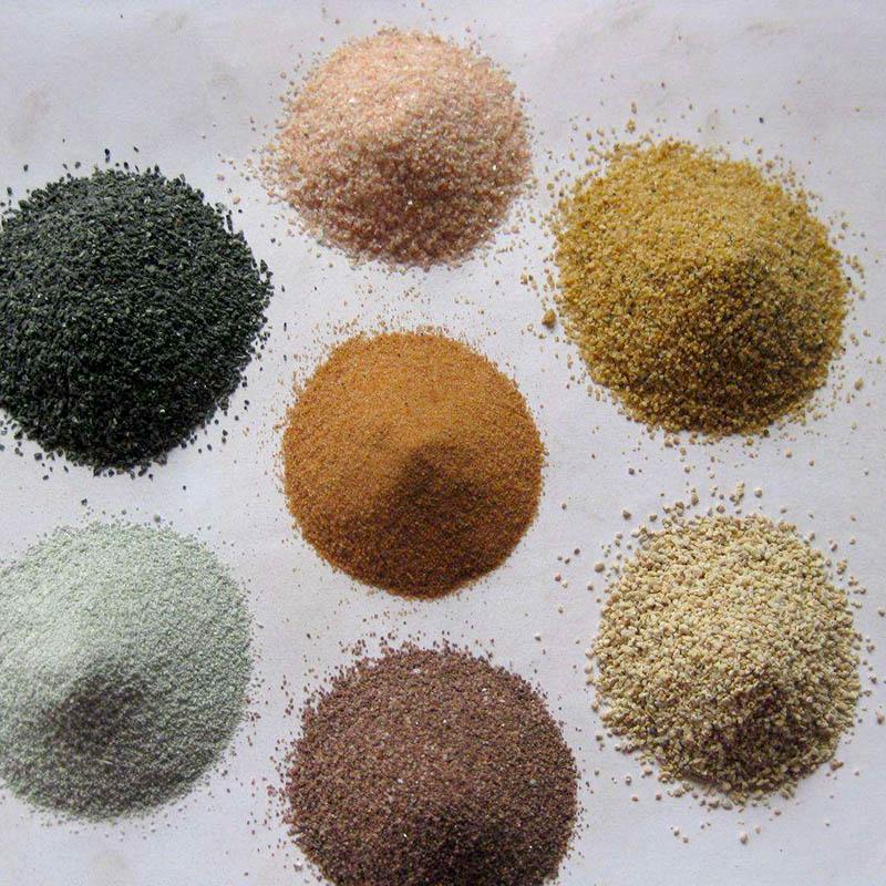染色彩砂加工