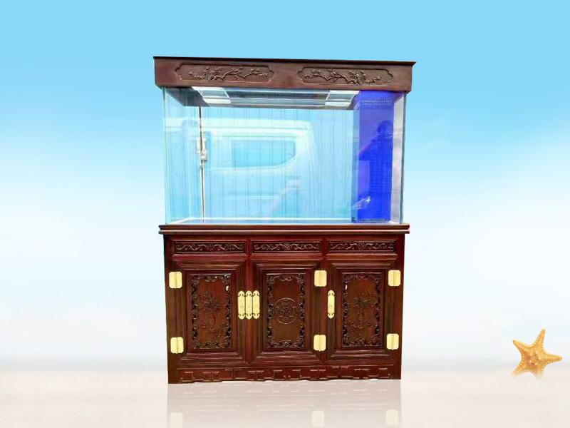 实木鱼缸底柜