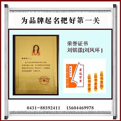 中国易学联会副主任荣誉证书起名荣誉证书,易学荣誉