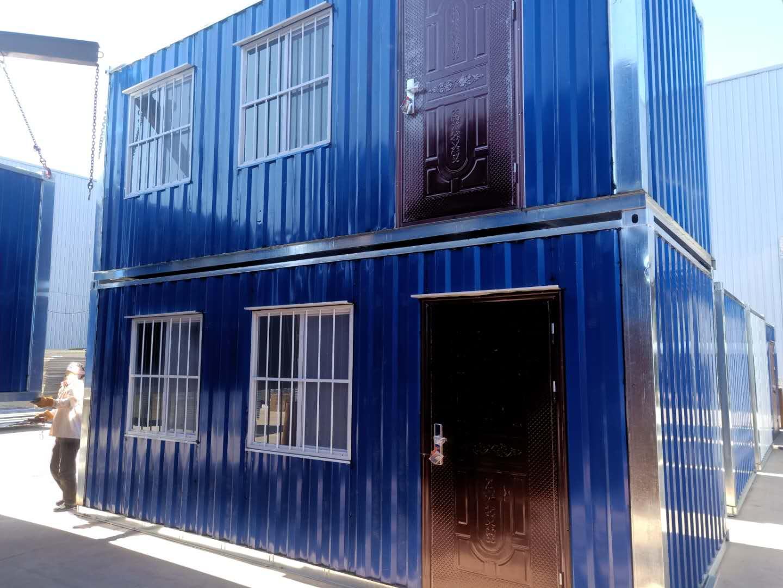 唐山万腾彩钢集装箱活动房 打包箱 岗亭 集装箱材料 彩钢房 金属雕花板房