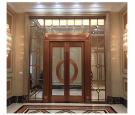 长沙通透式铜门