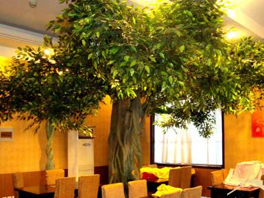 生态餐厅仿真榕树