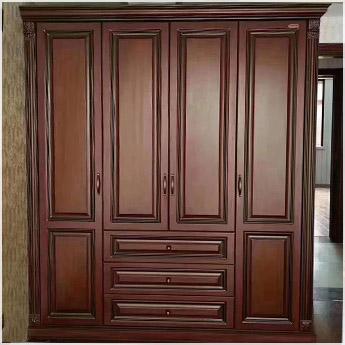 原木衣柜案例