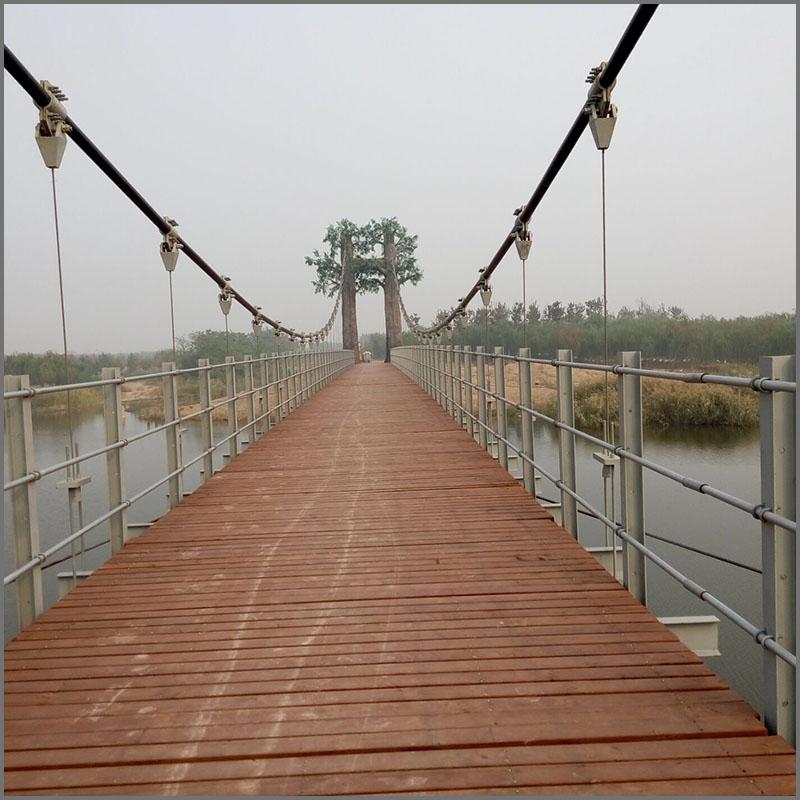 西青郊野公园斜拉索桥