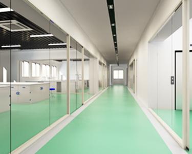 实验室全玻璃走廊
