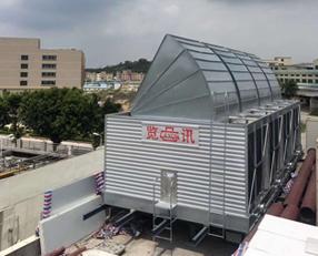 方型横流式带风曲冷却塔