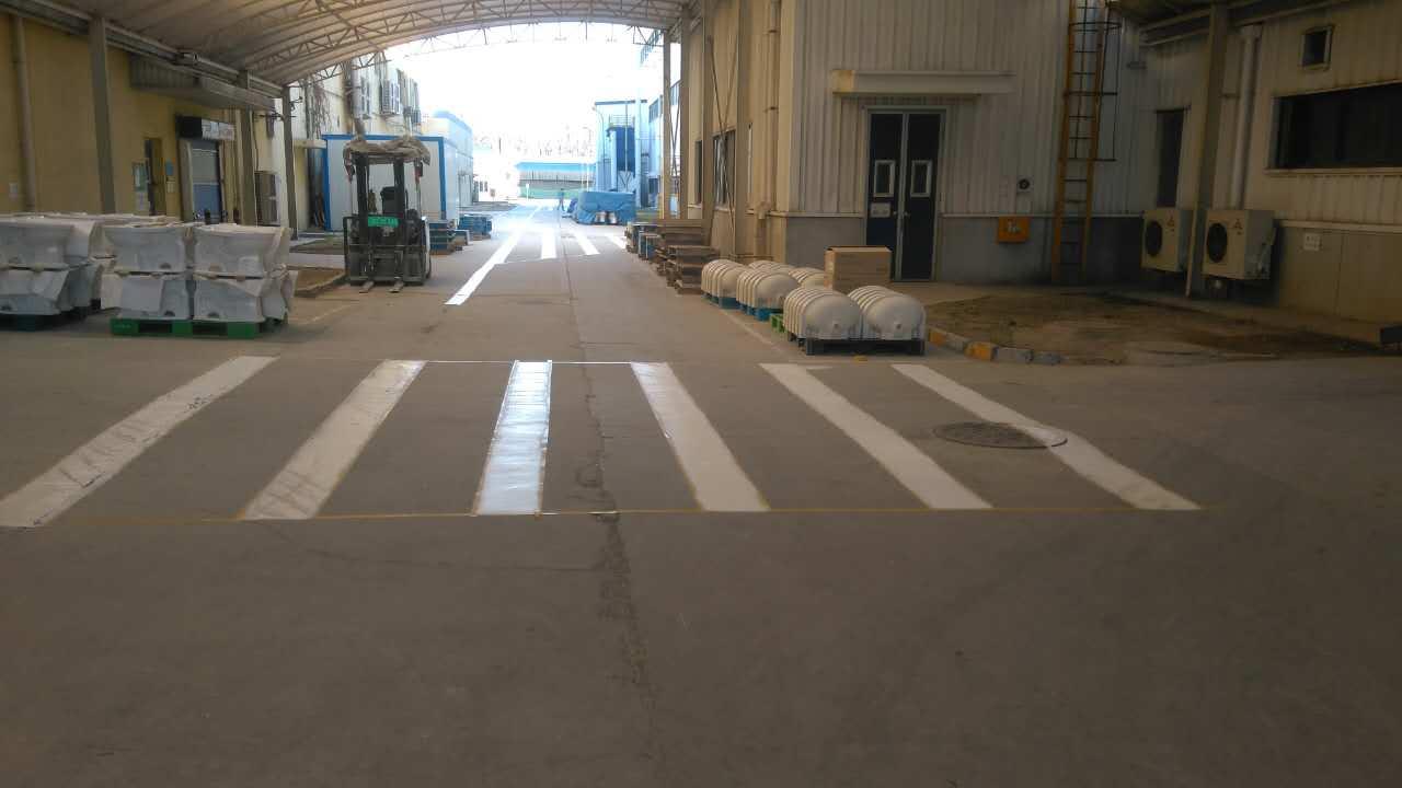 东陶机械厂房划线案例