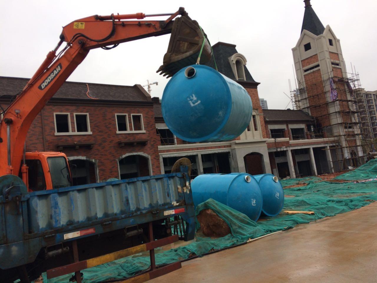 怀化碧桂园玻璃钢整体化粪池工程