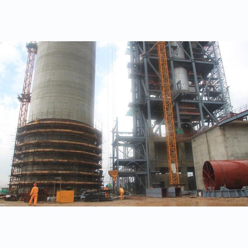 南非水泥厂窑尾喂料楼钢构安装