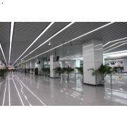 机场、地铁体育馆专用预定制造型铝方通 木纹铝格栅合作厂家广州澳林莱装饰材料公司