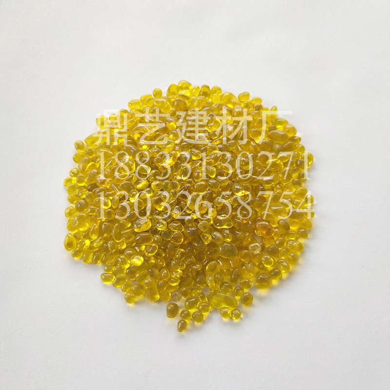 黄色玻璃珠3-6