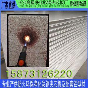 长沙硅岩板 A级防火净化夹芯板 厂房车间隔墙板 硅岩彩钢板