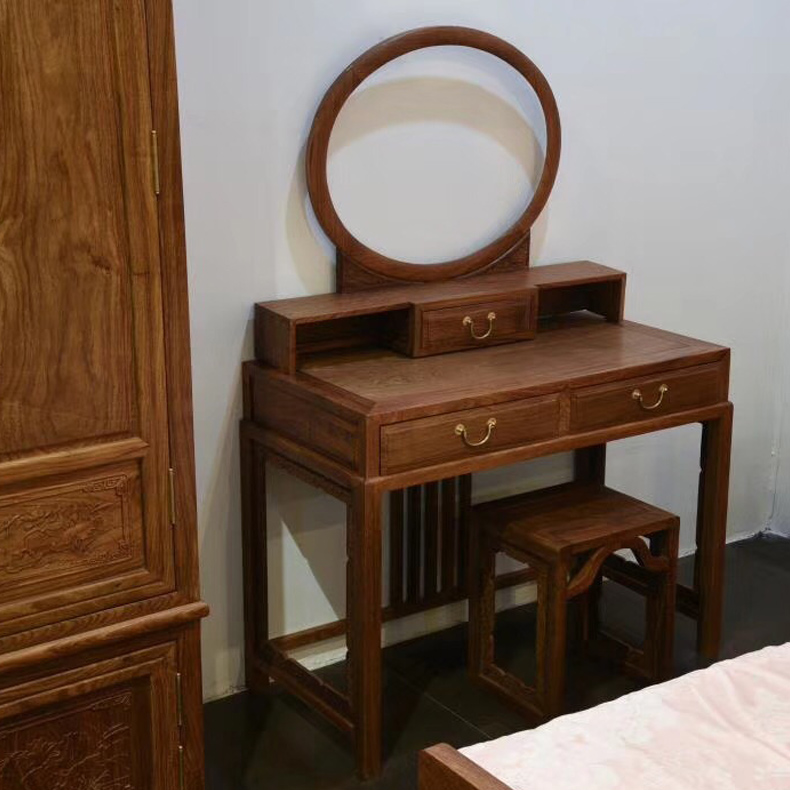 刺猬紫檀梳妆台