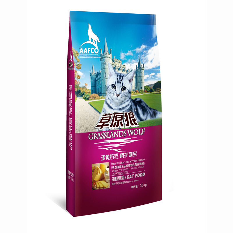 草原狼猫粮500g