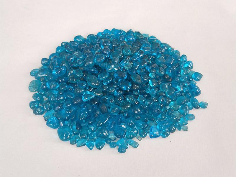 海蓝色玻璃珠3-6
